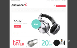 Music Playing Gear Magento Theme