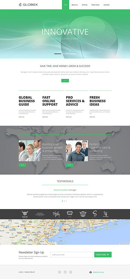 Joomla Theme/Template 51036 Main Page Screenshot