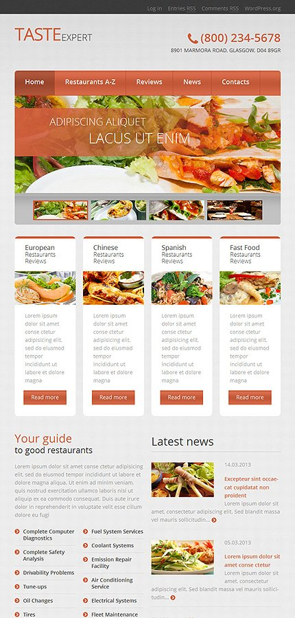WordPress Theme/Template 51041 Main Page Screenshot
