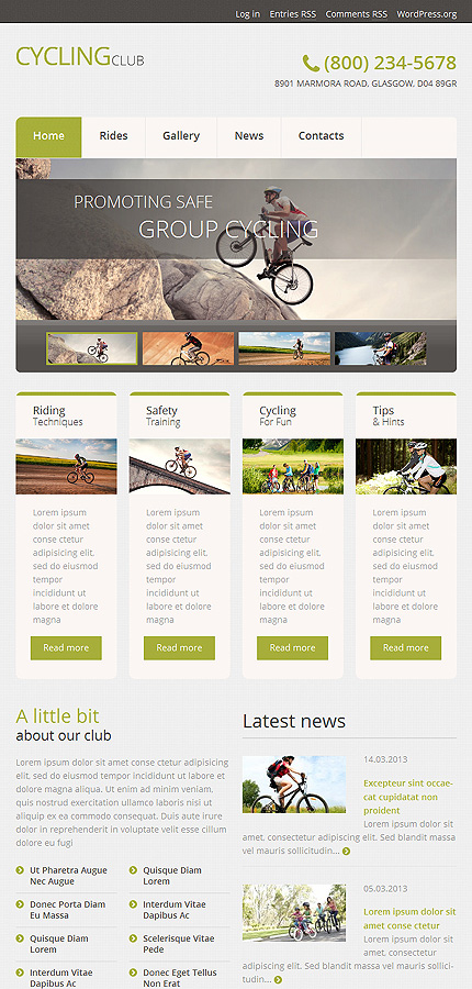 WordPress Theme/Template 51043 Main Page Screenshot