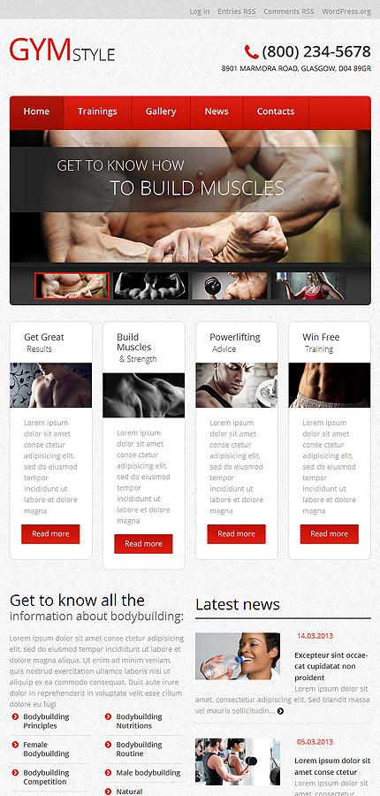 WordPress Theme/Template 51045 Main Page Screenshot