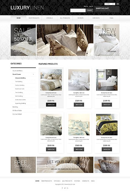 ZenCart Template 51052 Main Page Screenshot