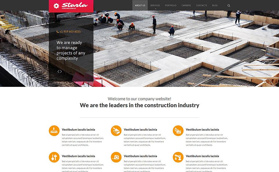 Tema Siti Web Responsive #51054 per Un Sito di Società di Costruzioni New Screenshots BIG