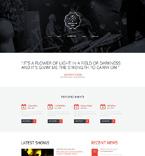 Music Website  Template 51056