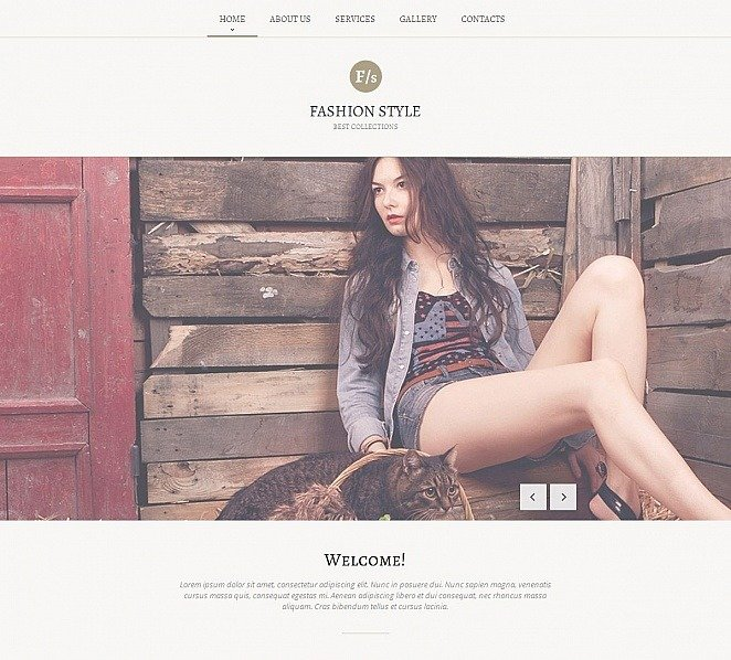 Premium Moto CMS HTML Template over Fashion Blog  New Screenshots BIG