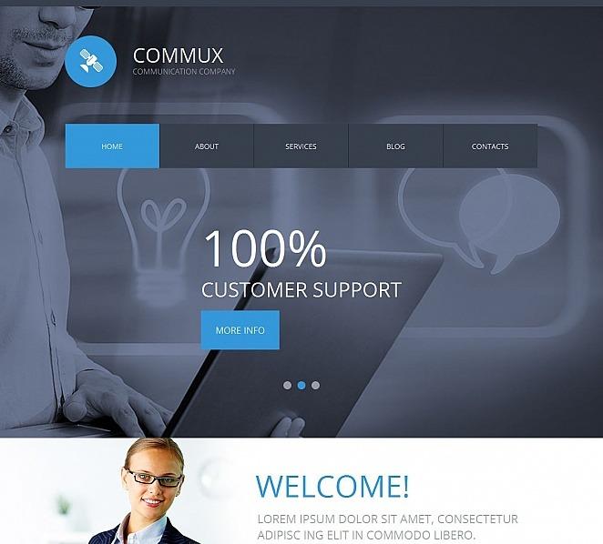 Premium Moto CMS HTML Template over Communicaties  New Screenshots BIG