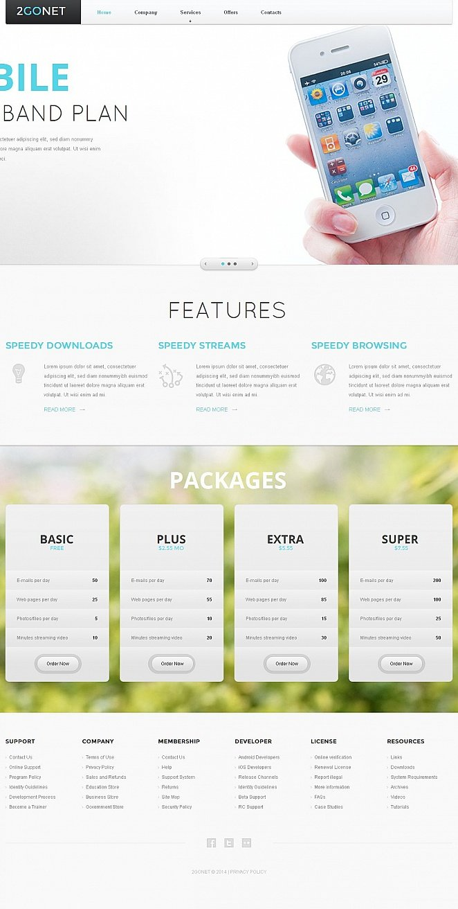 Internet Website Template with a Mobile Version - image
