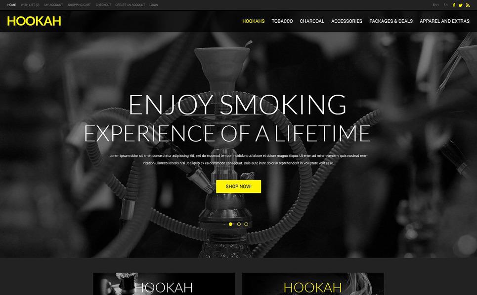 Template OpenCart Responsive #51073 per Un Sito di Tabacco New Screenshots BIG
