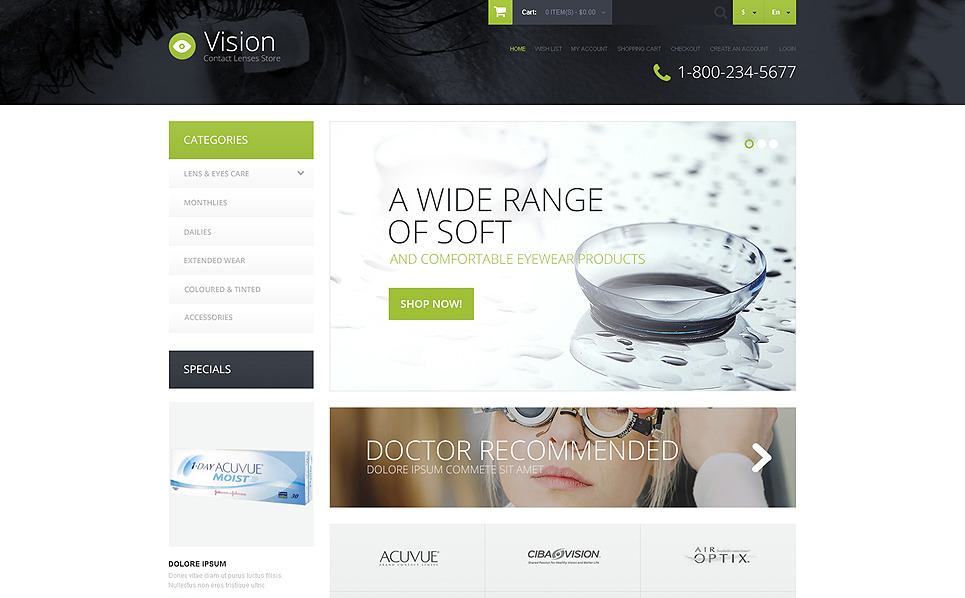 Responsive OpenCart Template over Optometrist New Screenshots BIG