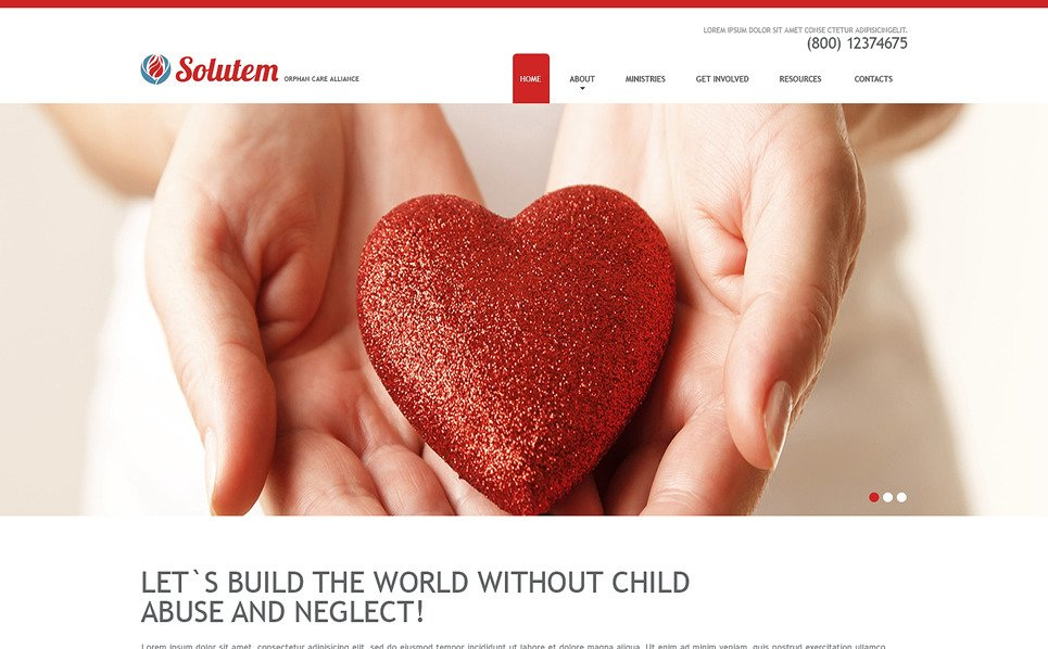 Responsive Website template over Liefdadigheid van Kinderen New Screenshots BIG