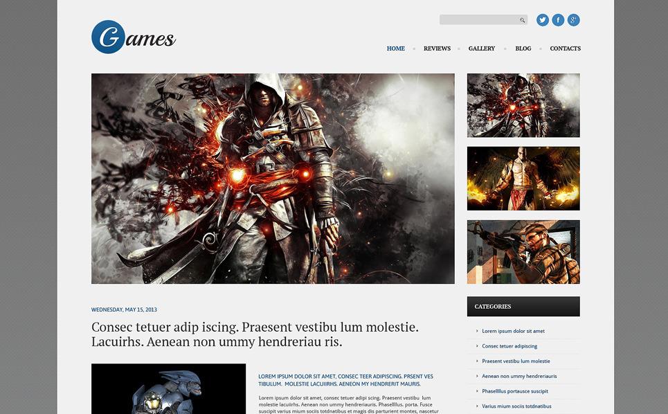 Responzivní WordPress motiv na téma Hry New Screenshots BIG