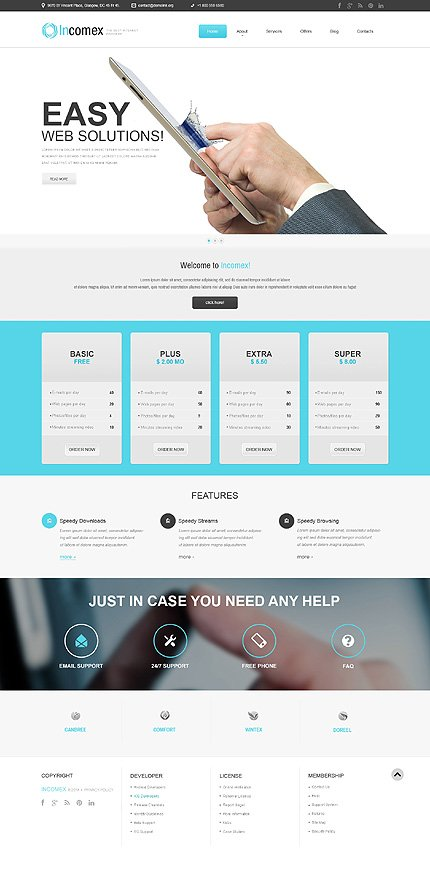 WordPress Theme/Template 51083 Main Page Screenshot