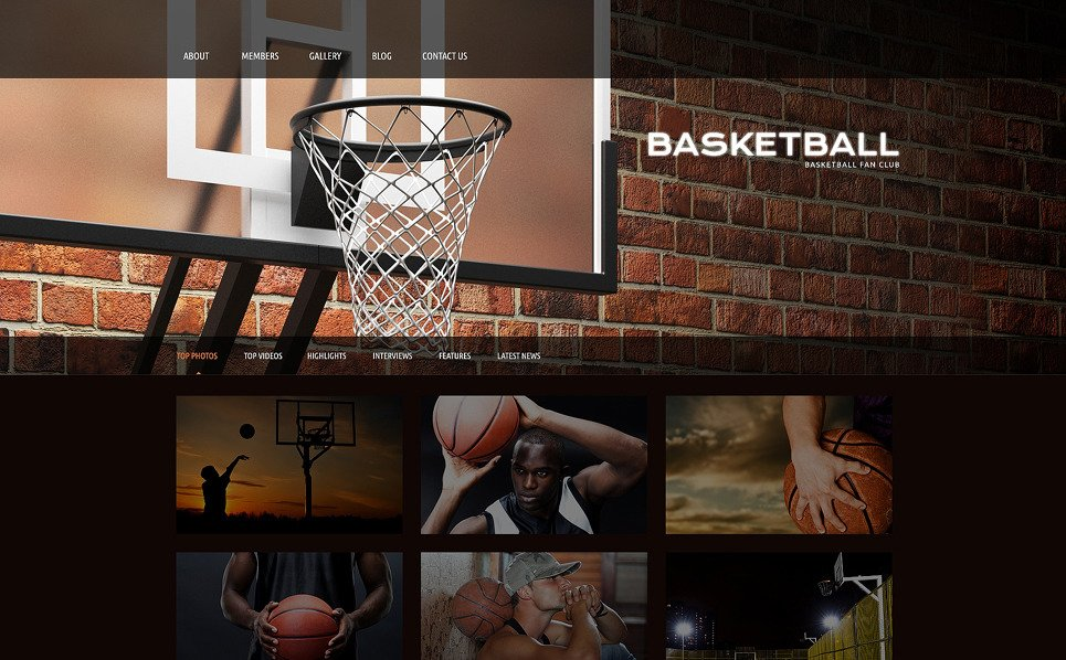 Tema WordPress Responsive #51087 per Un Sito di Pallacanestro New Screenshots BIG