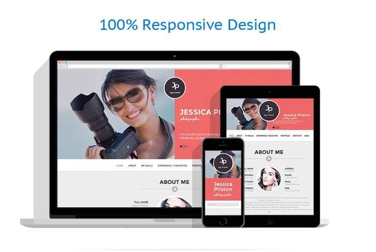 Tema de WordPress #51090 para Sitio de Portafolios de fotógrafos