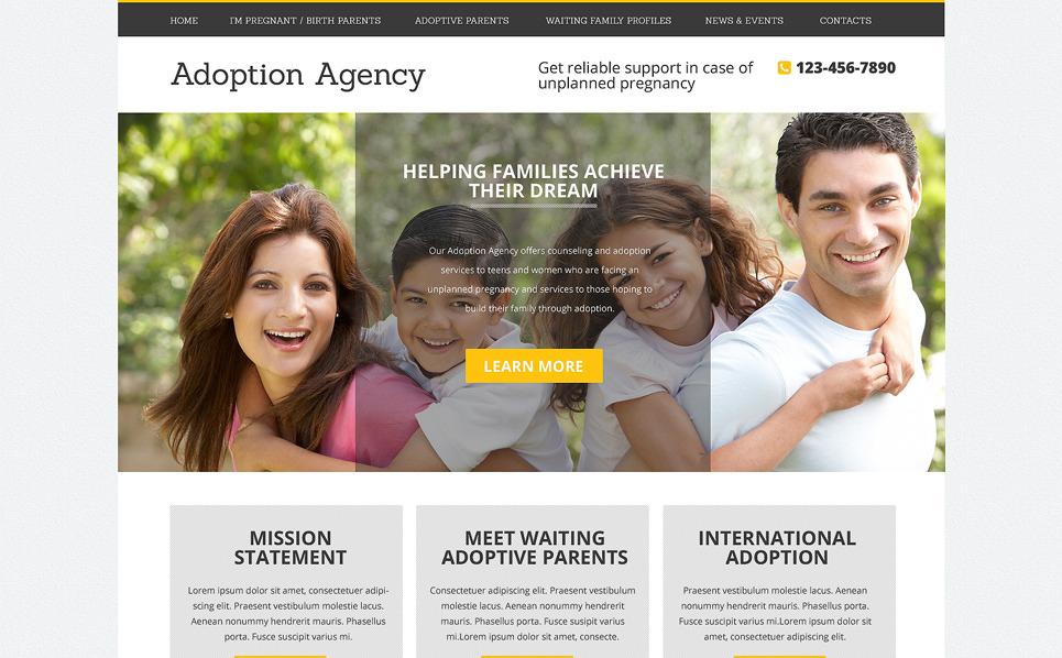 Drupal šablona Adopční agentura New Screenshots BIG