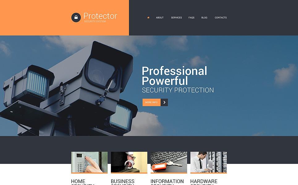 Responsive Website Vorlage für Sicherheitsdienst  New Screenshots BIG