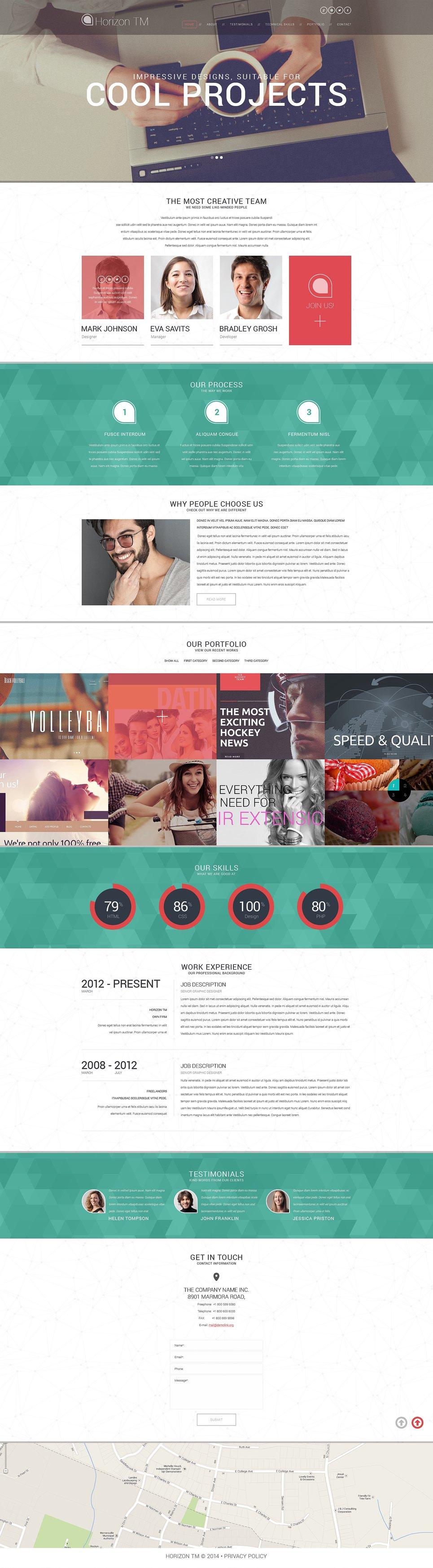 Адаптивный шаблон сайта на тему дизайн студия #51001