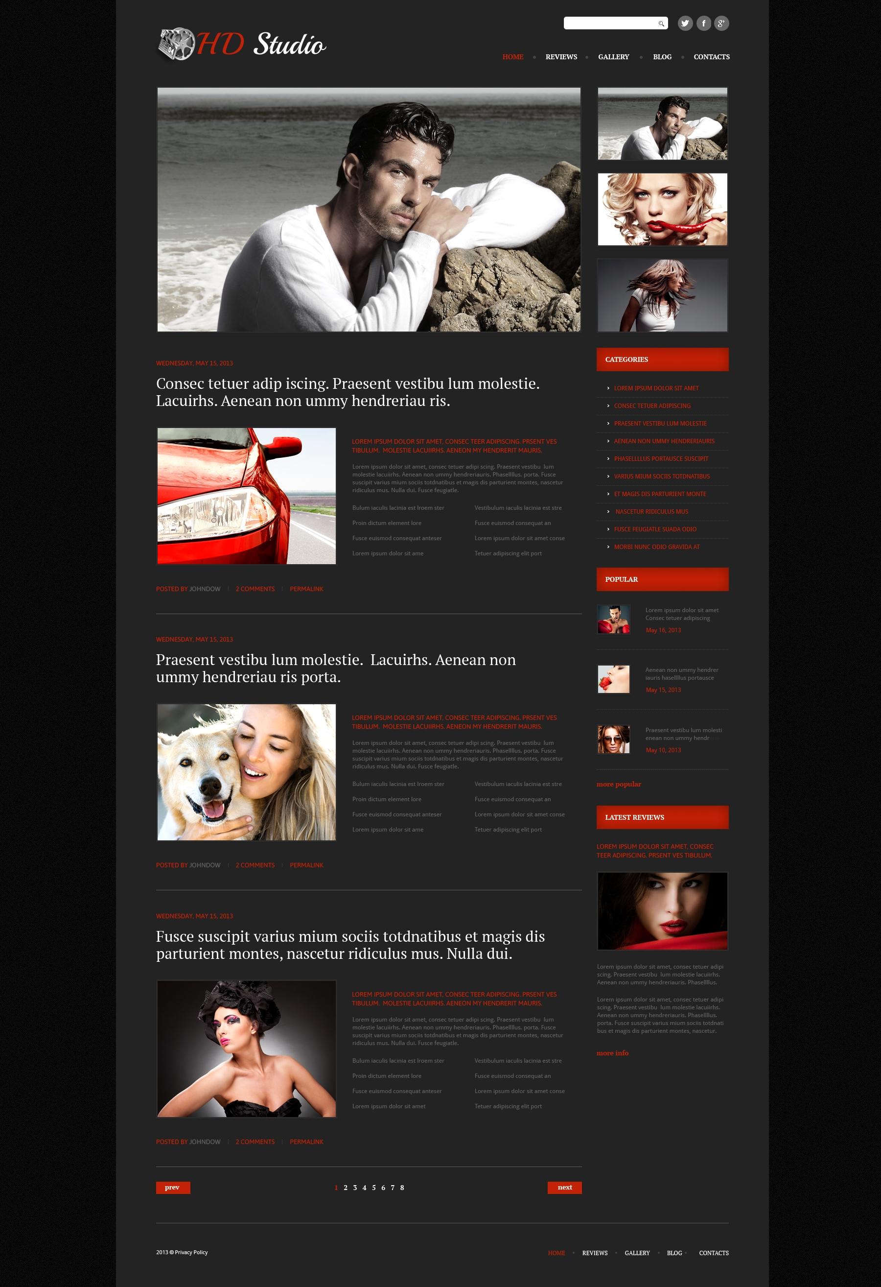 Адаптивный WordPress шаблон №51082 на тему видео студия