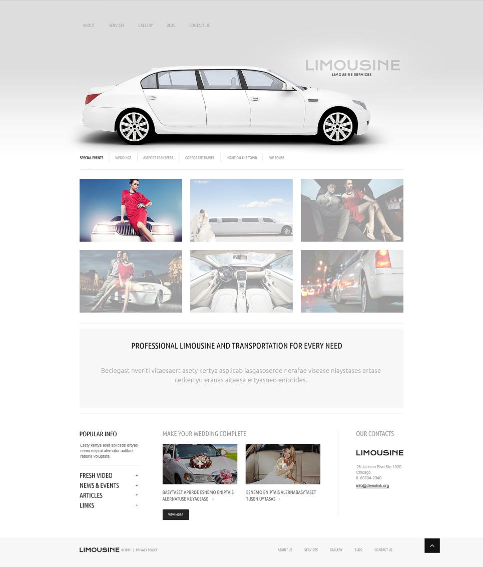 Адаптивный шаблон сайта на тему прокат лимузинов #51086