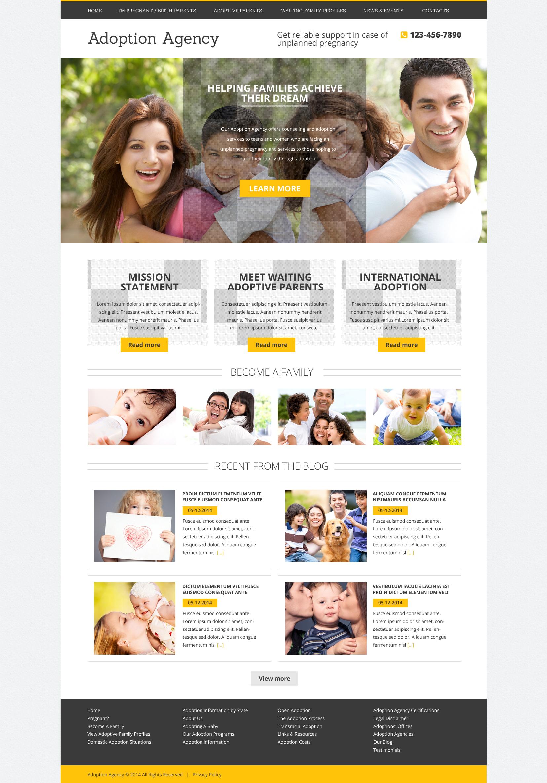 """Adoption Agency"" - Drupal шаблон №51093"