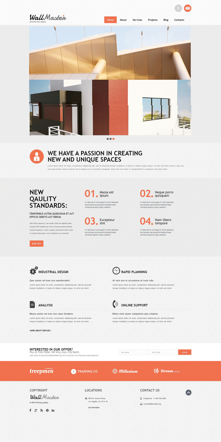 Architectural Art Joomla Template New Screenshots BIG