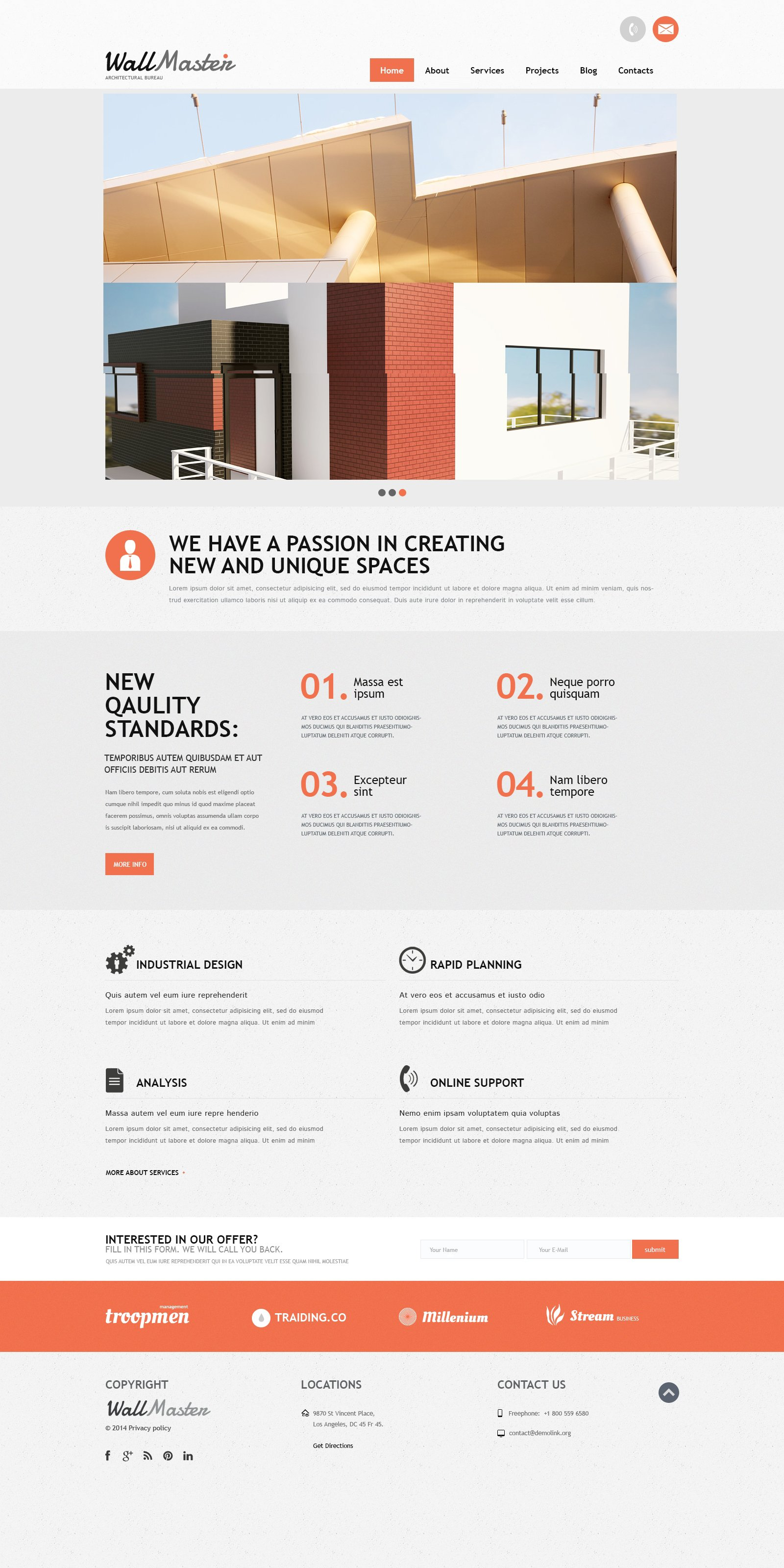 Architectural Art Joomla Template - screenshot