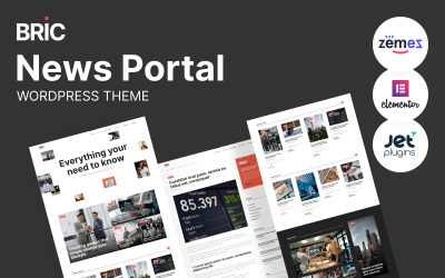 Bric - Newspaper, News Portal WordPress Theme