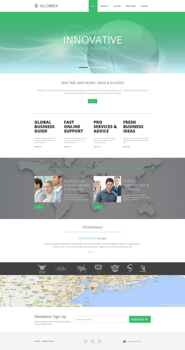 Business Consulting Firms Joomla Template New Screenshots BIG