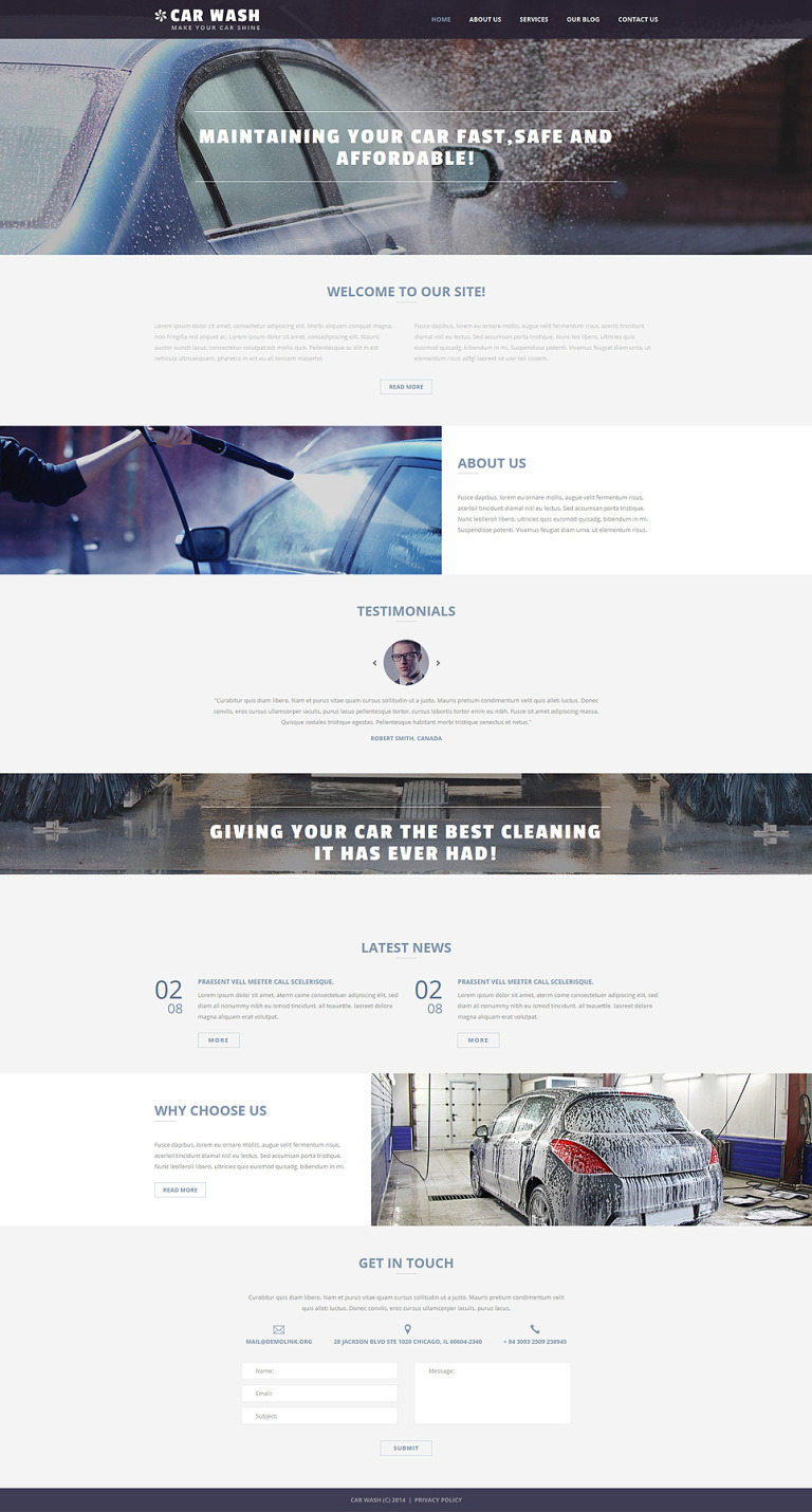 Car Wash Business Joomla Template New Screenshots BIG