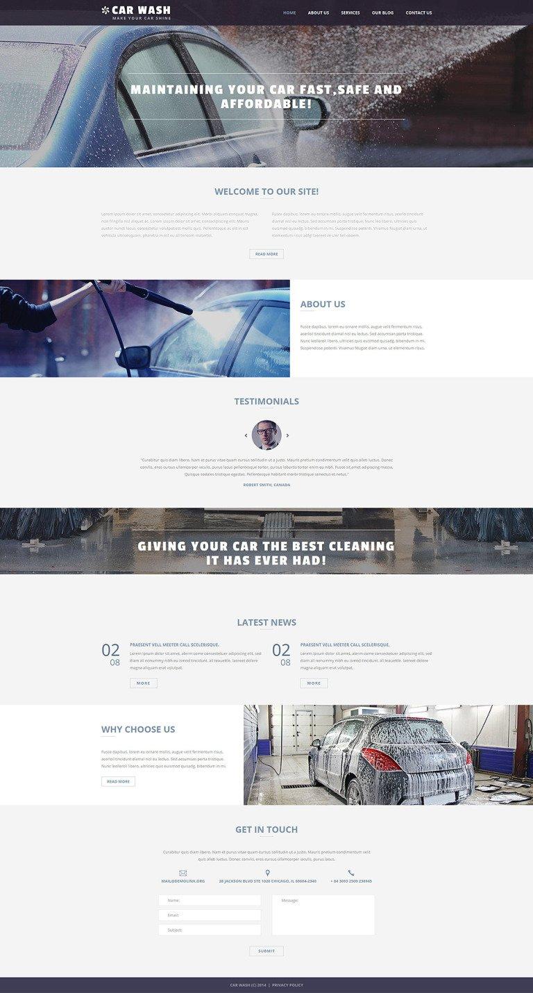 Car Wash Business Joomla Template New Screenshots BIG