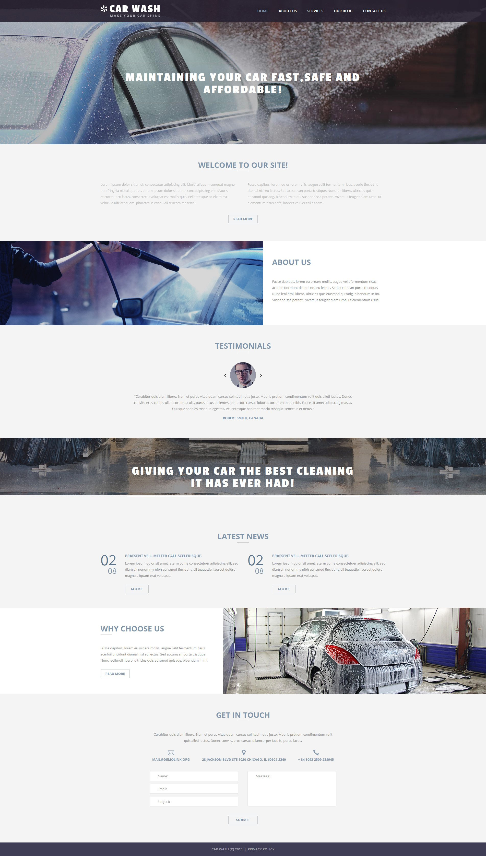 Car Wash Business Template Joomla №51091