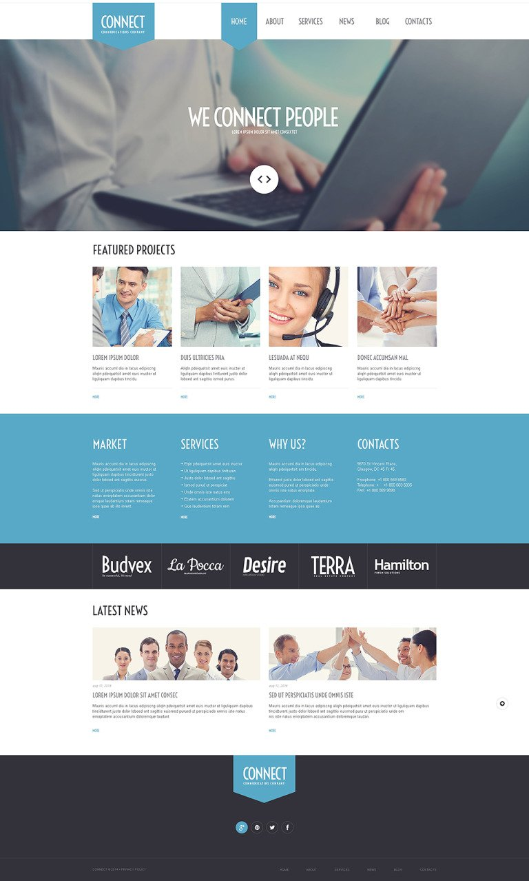 Communications Agency WordPress Theme New Screenshots BIG