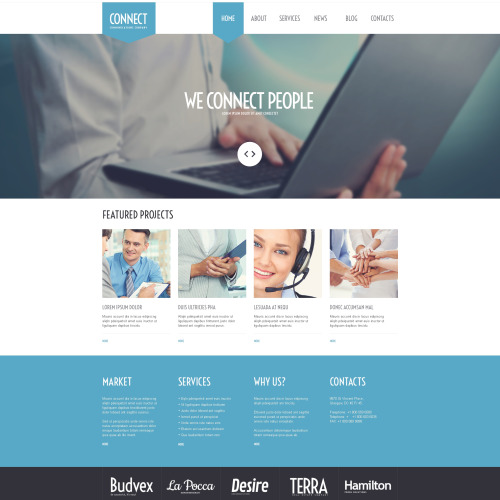 Connect - WordPress Template based on Bootstrap