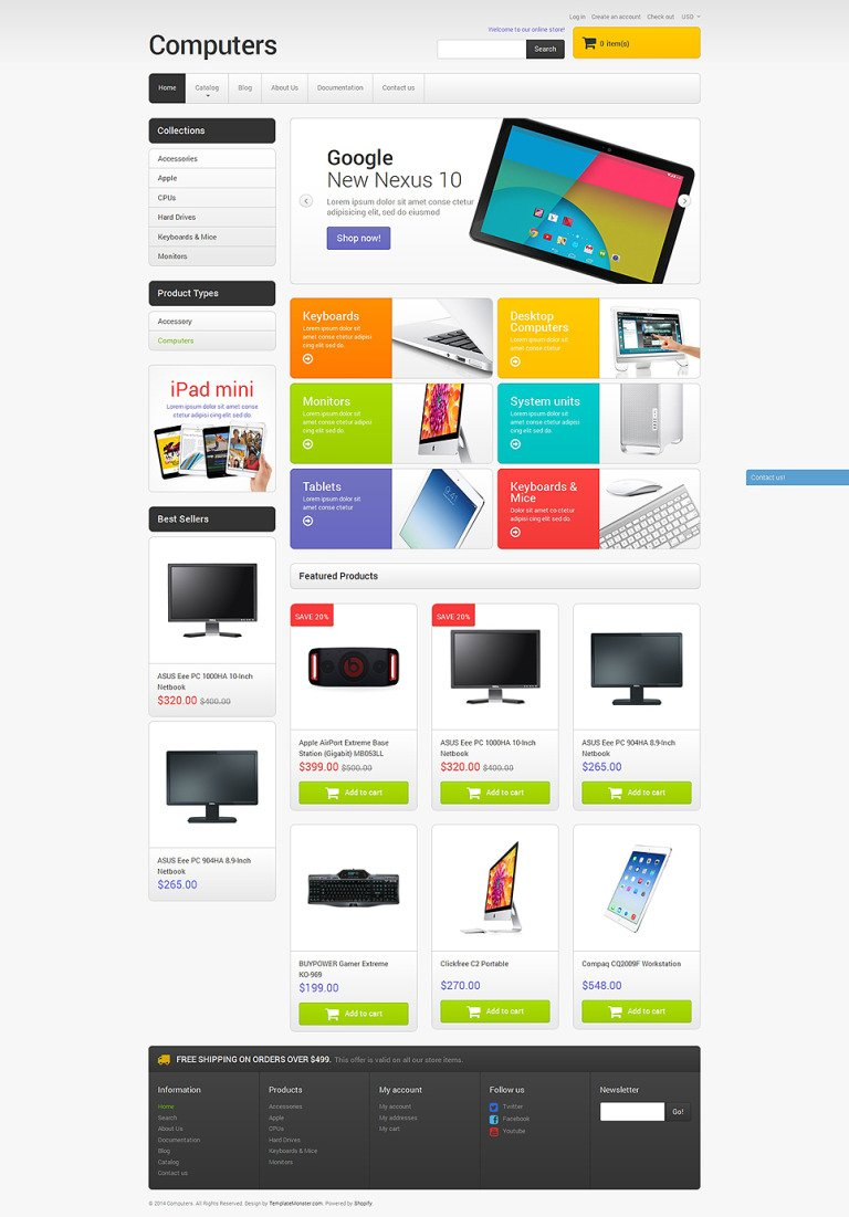 Computer Sales Shopify Theme New Screenshots BIG