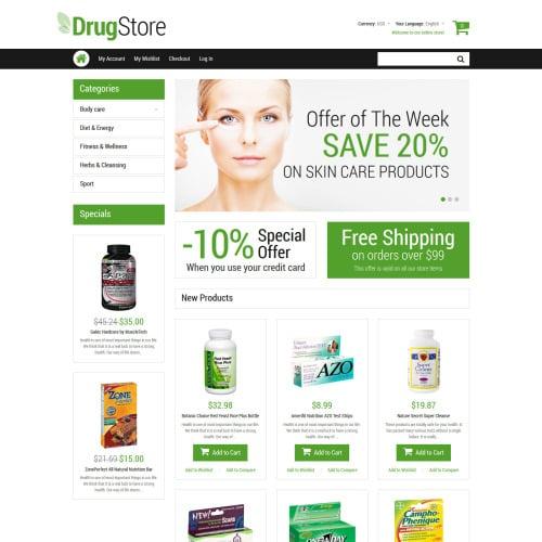 Drugstore - Responsive Magento Drugs Store Template