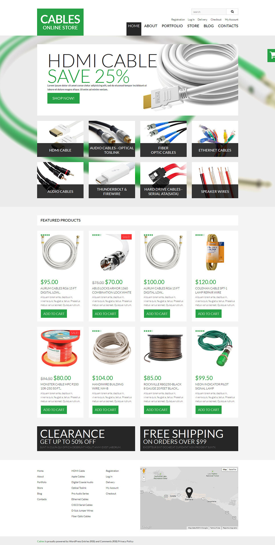 Durable Cables Wires WooCommerce Theme New Screenshots BIG