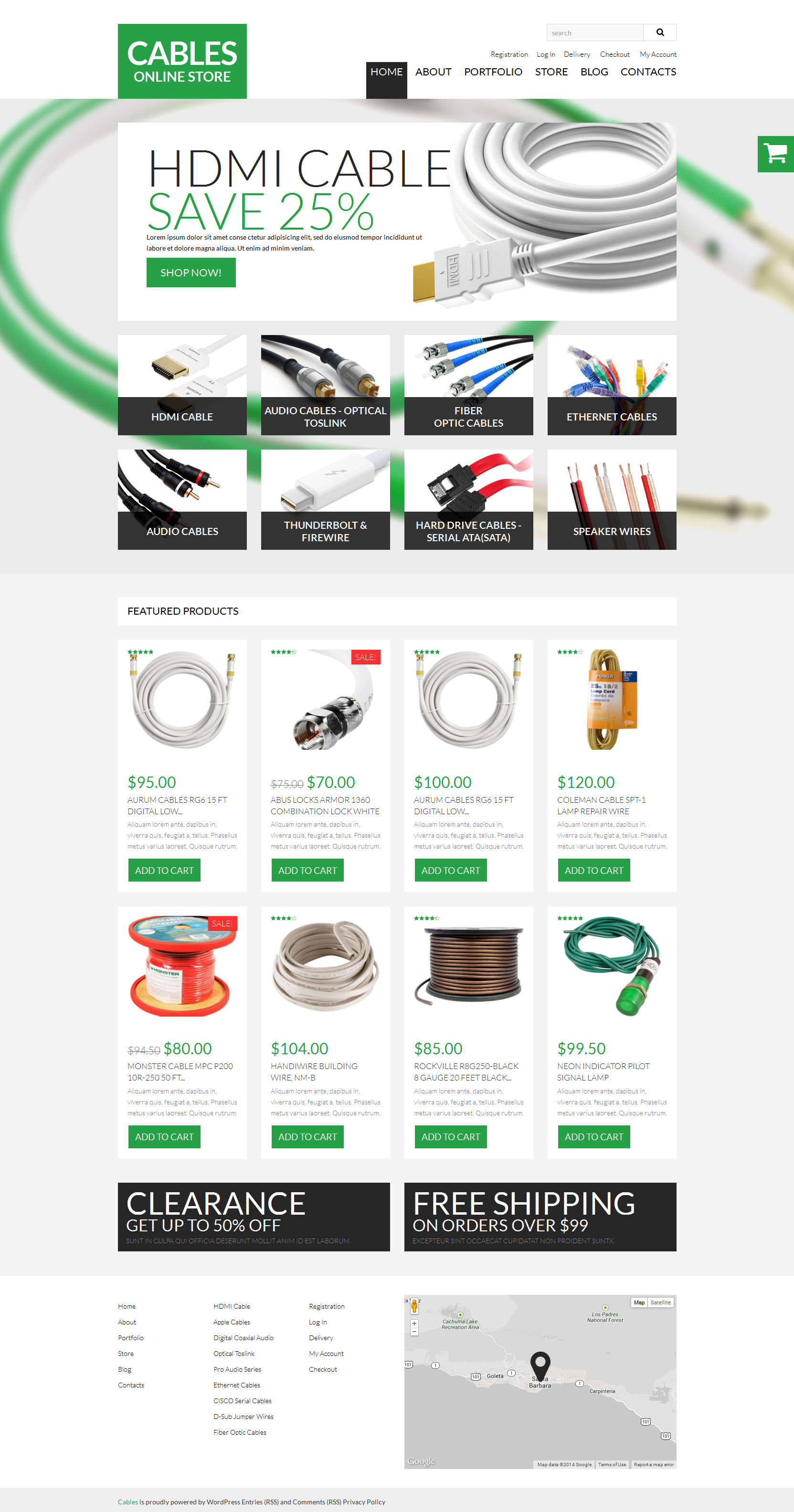 Durable Cables Wires WooCommerce Theme #51009