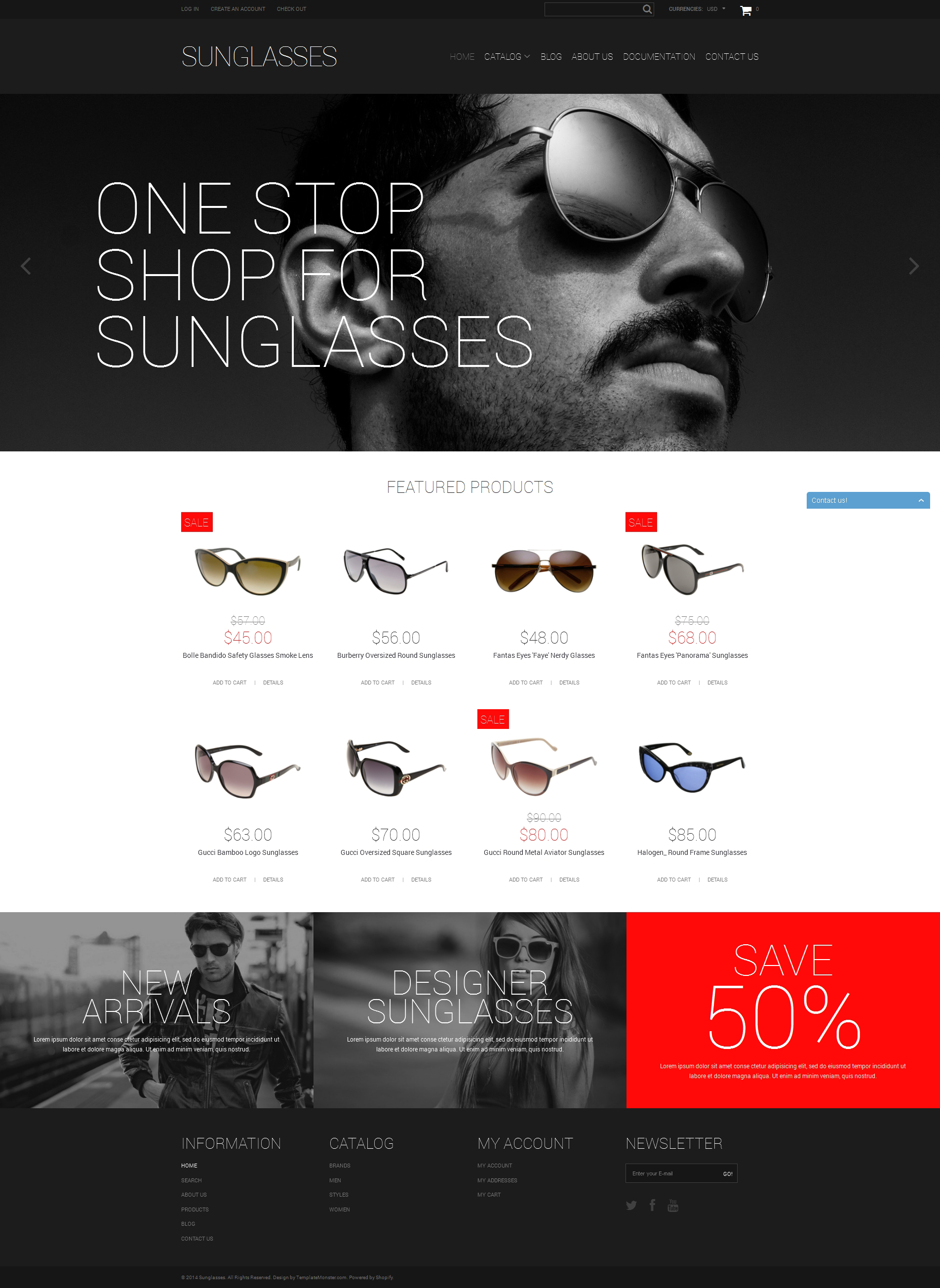Elegant Sunglasses Shopify Theme