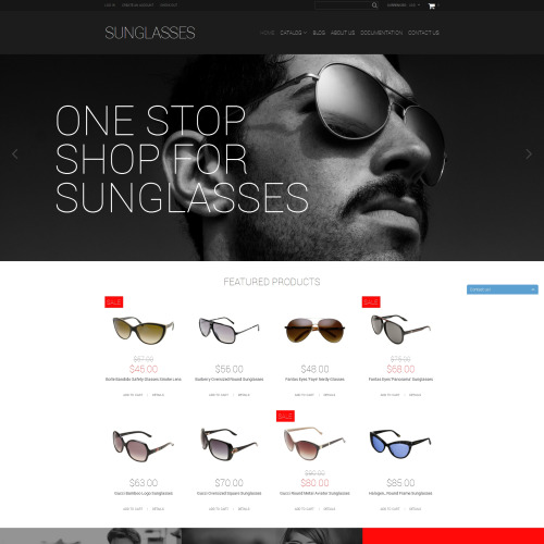 Sunglasses - Shopify Template based on Bootstrap