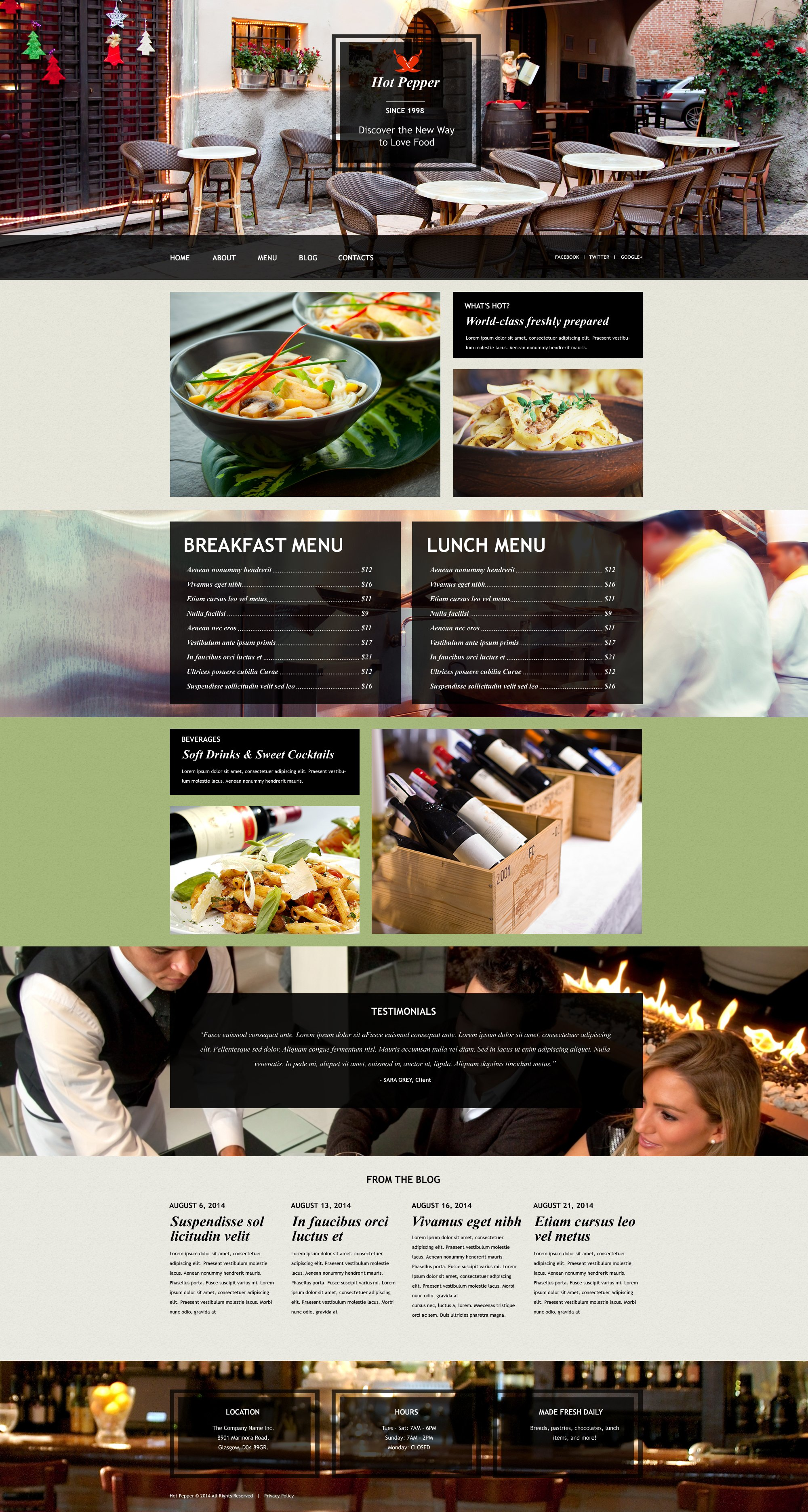 European Restaurant Muse Template