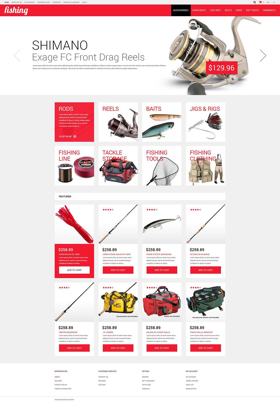 Fishing Shop OpenCart Template New Screenshots BIG