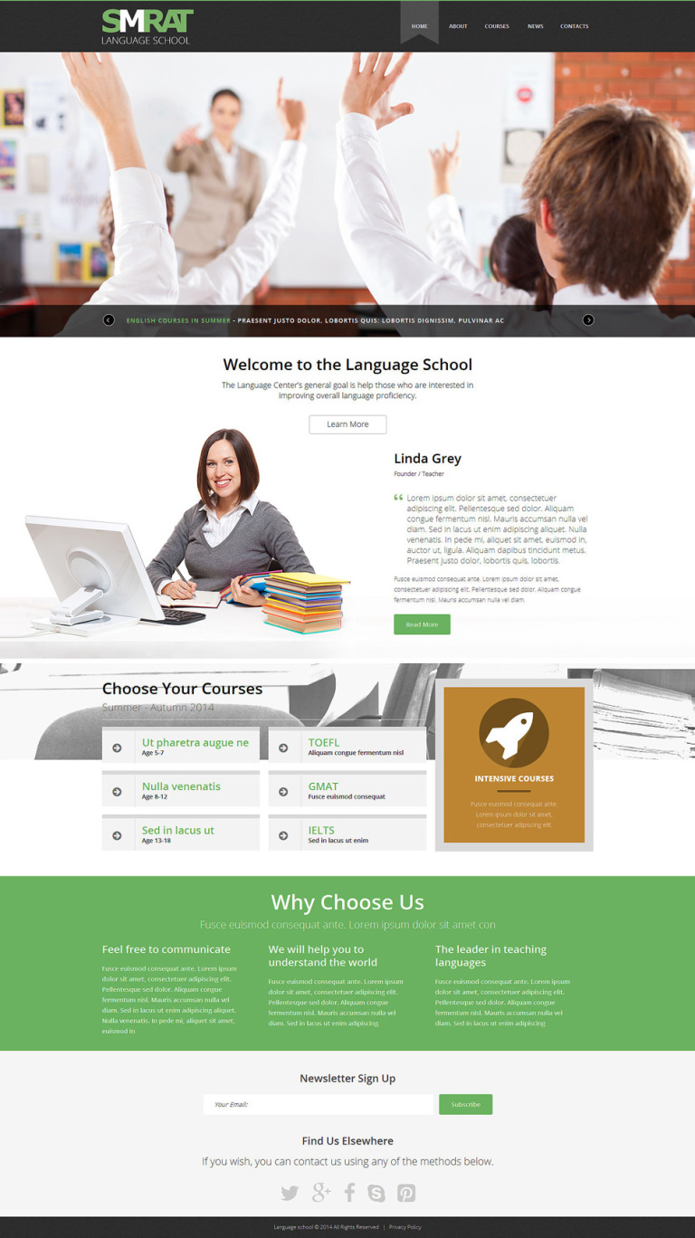 Foreign Language Teaching Joomla Template New Screenshots BIG