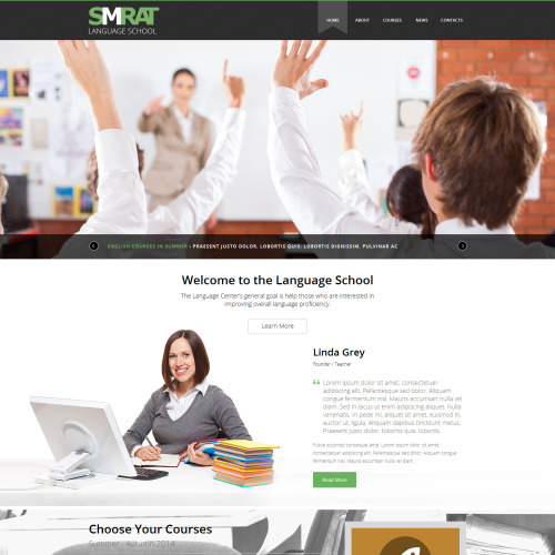 Smrat Language School - Joomla! Template based on Bootstrap