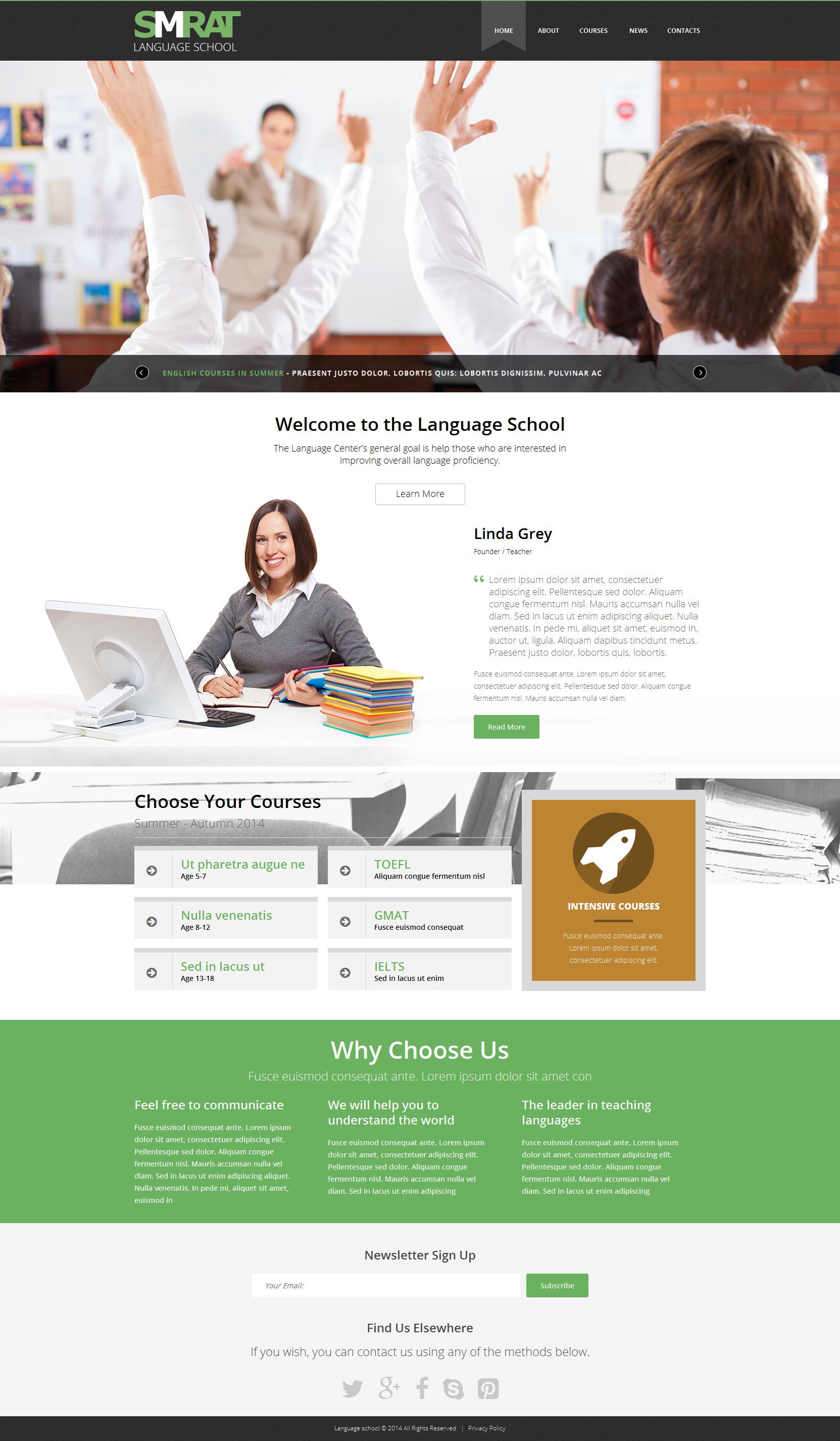 """Foreign Language Teaching"" 响应式Joomla模板 #51010 - 截图"