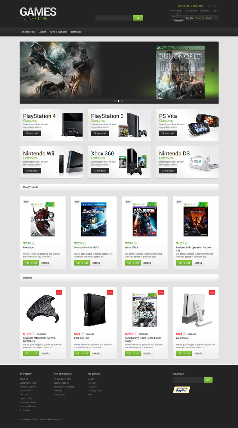 Games Responsive Magento Theme New Screenshots BIG