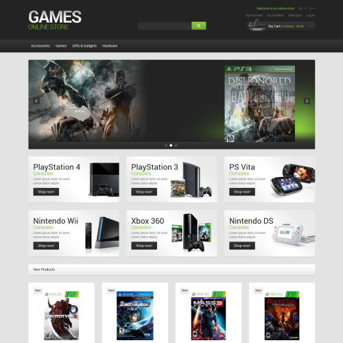 Games Online Store - Responsive Magento Template