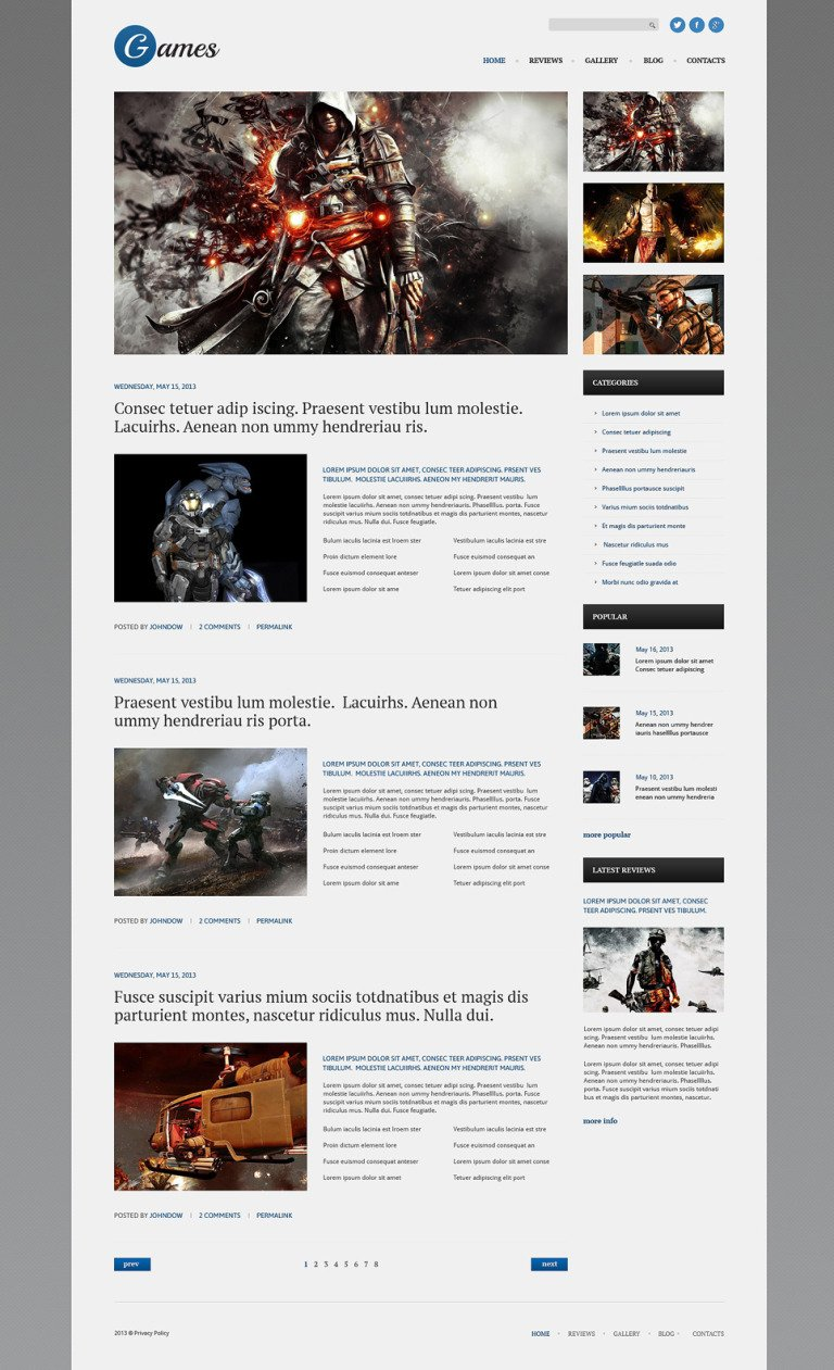 Games Responsive WordPress Theme New Screenshots BIG