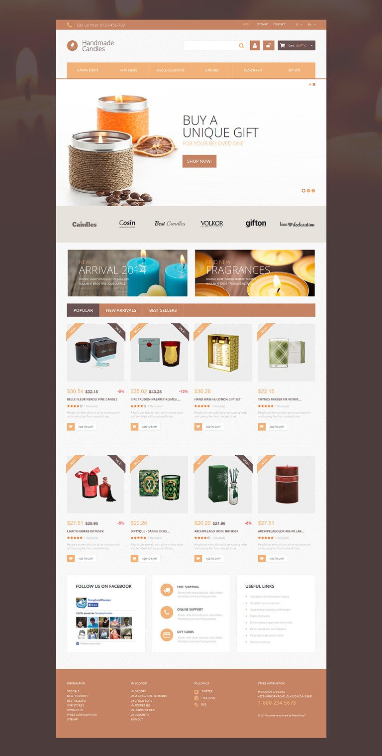 Handmade Candles PrestaShop Theme New Screenshots BIG