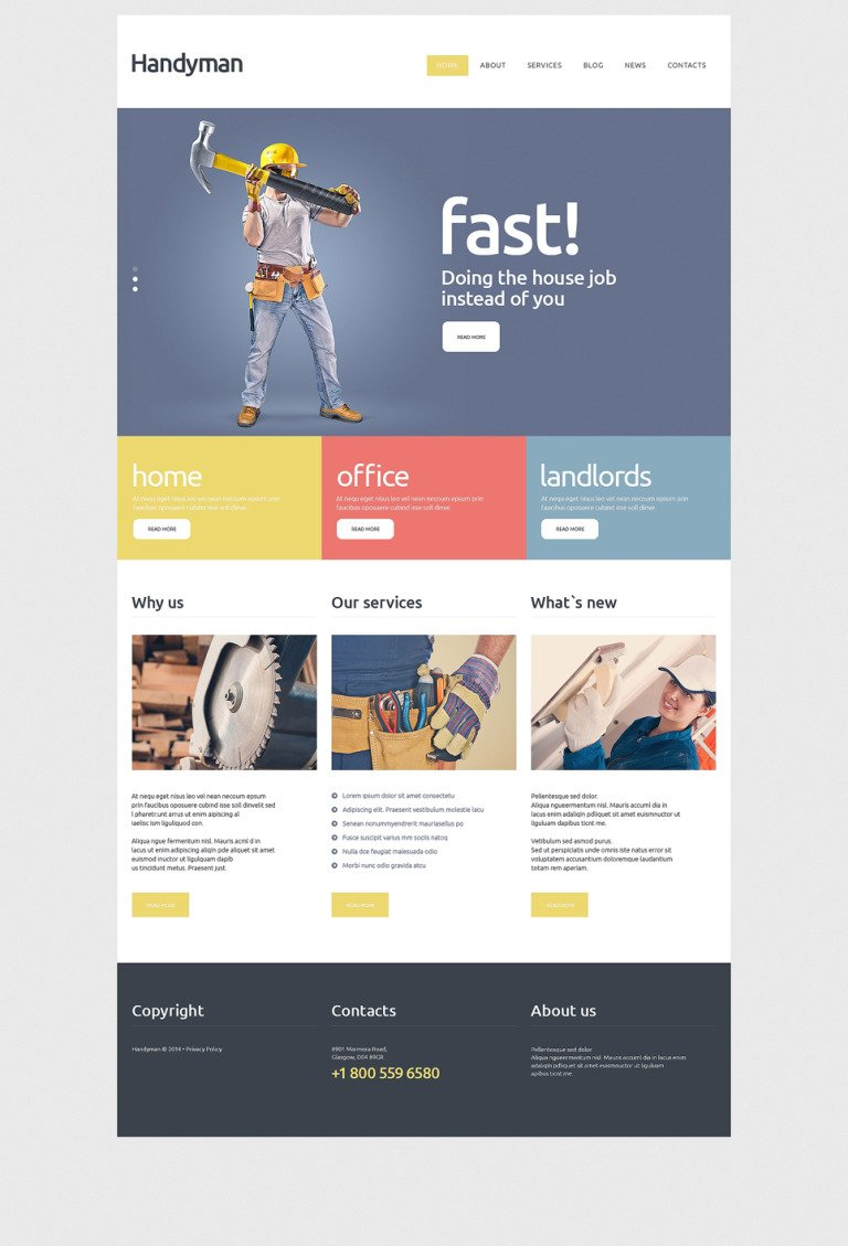 Handyman Services Joomla Template New Screenshots BIG