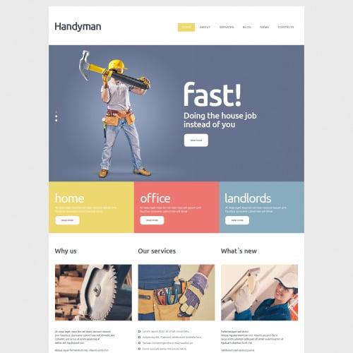 Handyman  - Joomla! Template based on Bootstrap